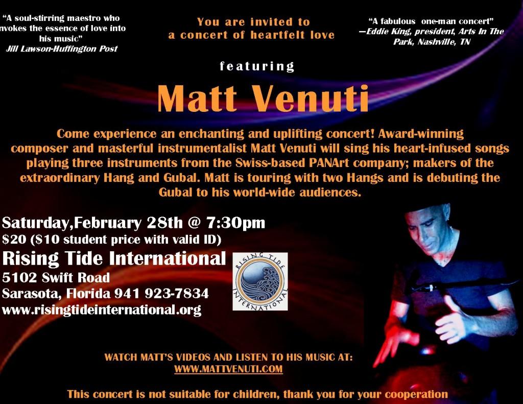 Matt Venuti Concert at Rising Tide Int. in Sarasota, FL