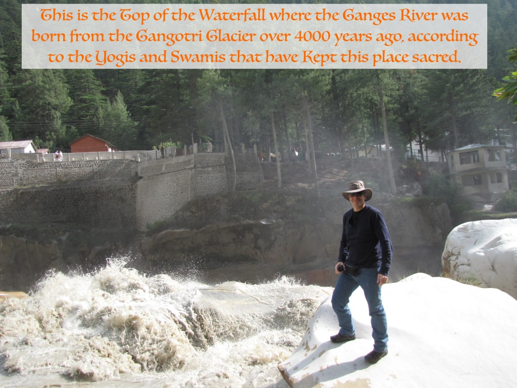Top of the Ganges Birth Waterfall