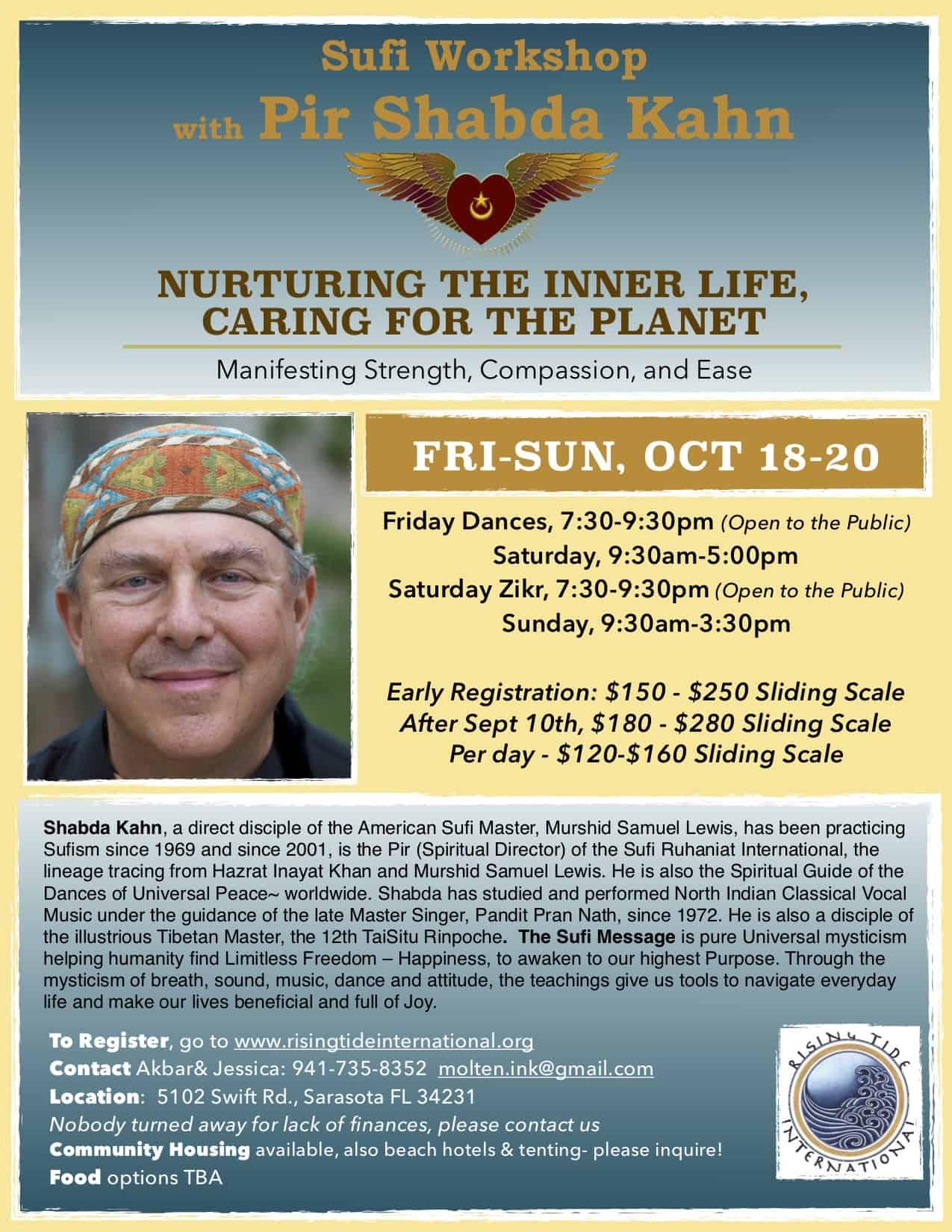 Nurturing the Inner Life Workshop | Pir Shabda | Rising Tide International